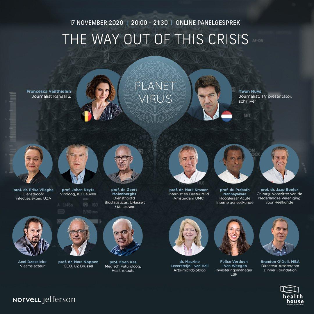 Panel van Belgische en Nederlandse experts, patiënten en artsen geven hun professionele kijk en ervaring op de corona-pandemie